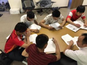 技能実習生が技能評価試験の合格めざして勉強中!!
